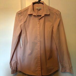 Ann Taylor Loft Button pink Blouse XS